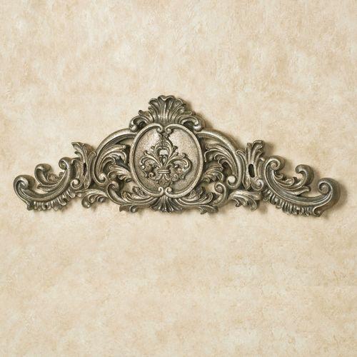 Kingsley Fleur Wall Topper Antique Silver