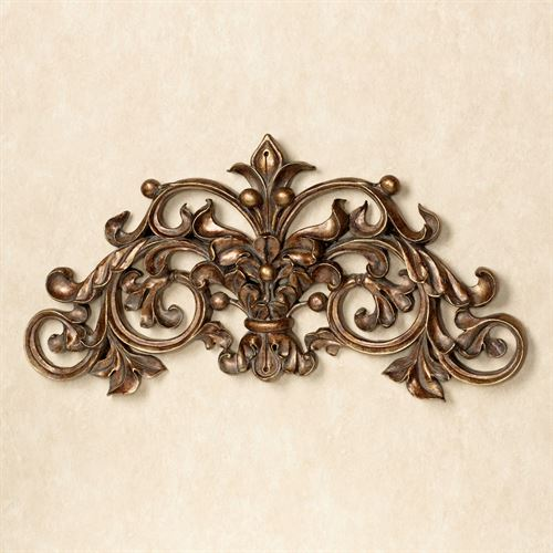 Nicoletta Scrolling Wall Art Gold/Bronze