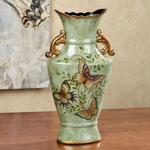 Dancing Butterflies Table Vase Jade