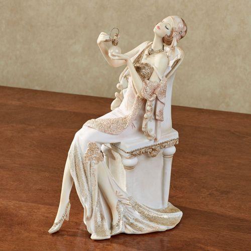 Graceful Beauty Parfum Lady Figurine Ivory