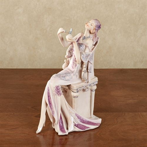 Graceful Beauty Parfum Lady Figurine Lilac