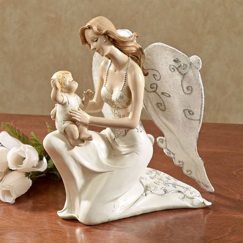 Angel of Love with Baby Figurine Pearl