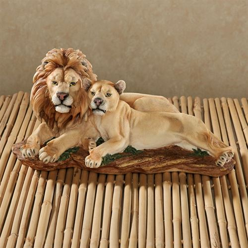 Daybreak Lion Table Sculpture Tawny