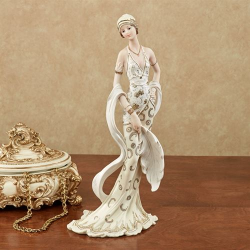Parisienne Chic Lady Figurine Ivory