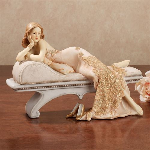 Beauty at Rest Lady Figurine Pale Blush
