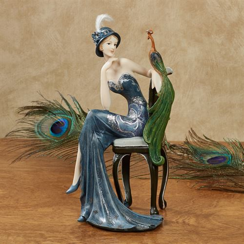 Majestic Beauty Lady Figurine Blue