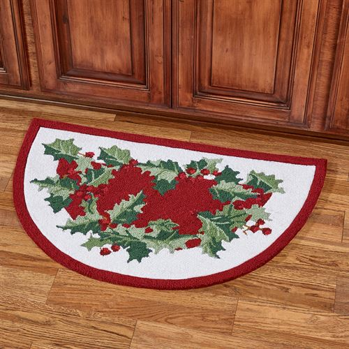 Holly Border Slice Accent Rug Red 33 x 21