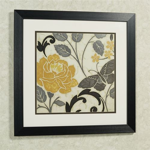 Perfect Petals I Framed Wall Art Black