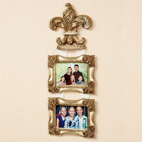 Royal Plume Wall Photo Frame Antique Gold