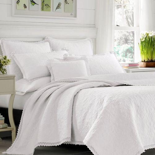 Heirloom Crochet Quilt Set White