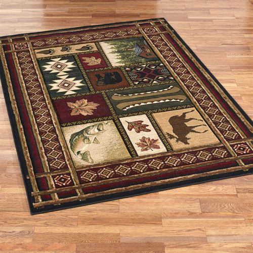 Cabin chalet rustic area rugs for Warm rugs