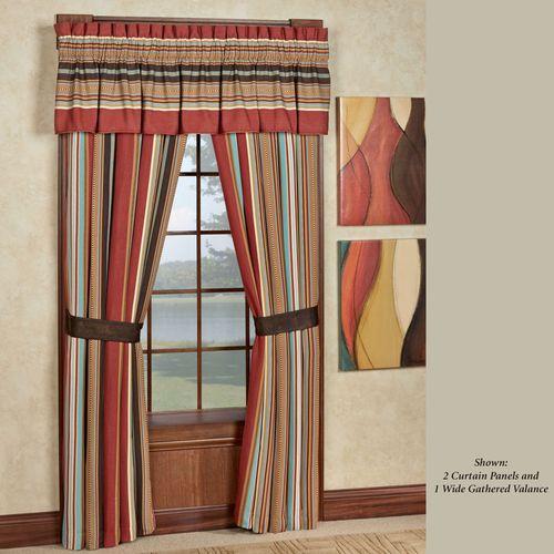 Calhoun Tailored Curtain Panel Multi Warm 48 x 84