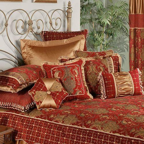 Montecito Piped Pillow Merlot 18 Square