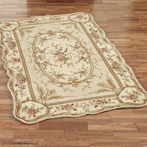 Rose Aubusson Rectangle Rug