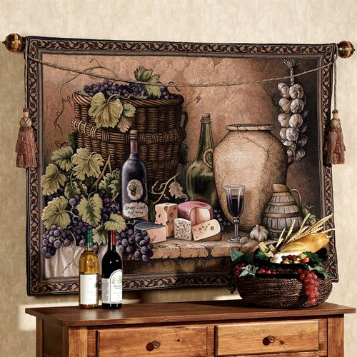Wine Tasting Wall Tapestry