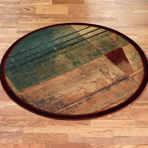 Abstract Expression Round Rug
