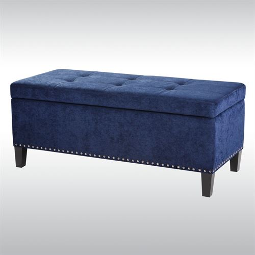 Belle View Storage Bench Navy