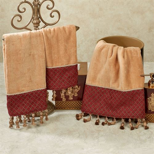 Montecito Towel Set Buff Bath Hand Fingertip
