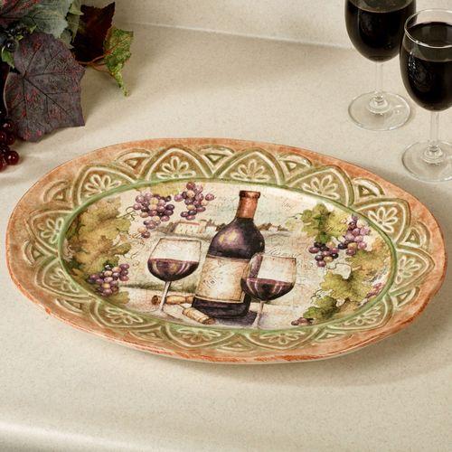 Sanctuary Wine Oval Serving Platter Multi Earth