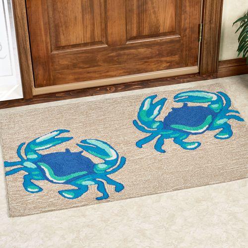 Crabs Accent Rug Blue
