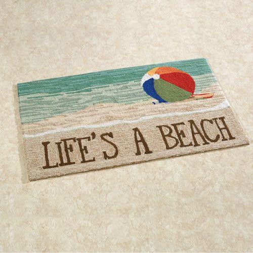 Lifes a Beach Accent Rug Sand