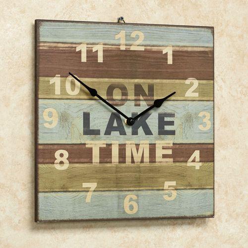 On Lake Time Wall Clock Multi Cool