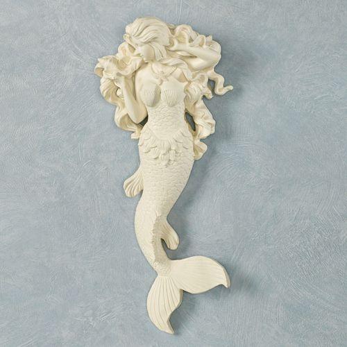 Flowing Hair Mermaid Wall Accent Light Cream