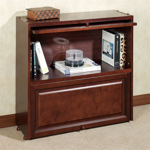 Aubrie Barrister Bookcase with Wood Doors