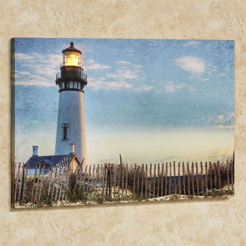 Seaside Lighthouse Led Lighted Canvas Art