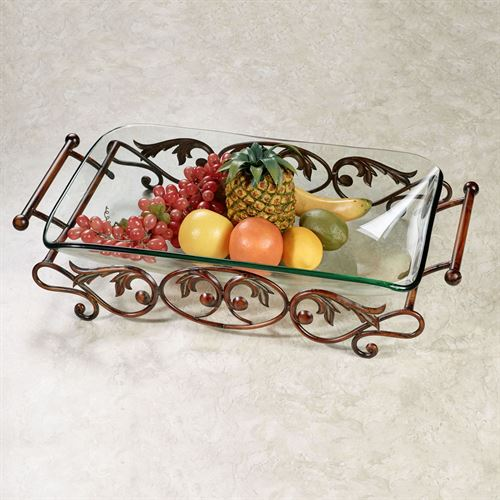 Noran Glass Bowl with Stand Bronze