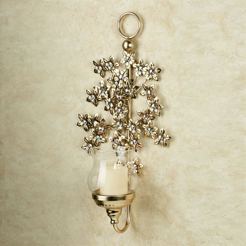Jeweled Blooms Wall Sconce Gold