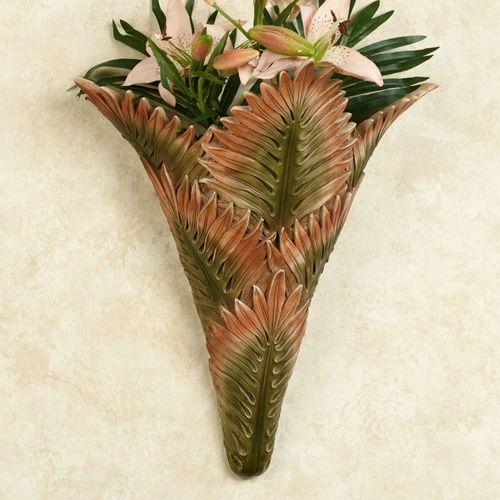 Sunset Palm Wall Vase Multi Earth