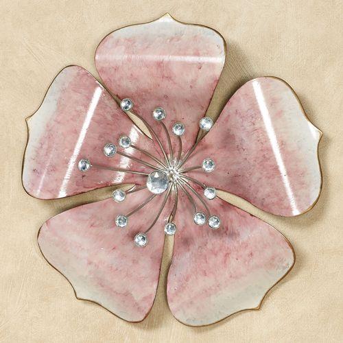 Shimmering Gem Floral Wall Art Pink