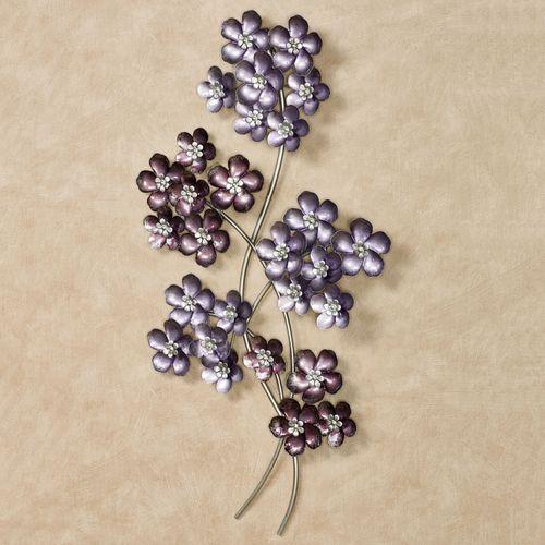 Summer Bouquet Floral Wall Art Purple