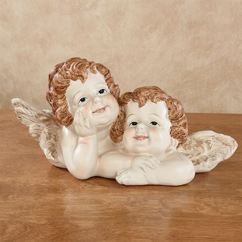Daydream on Wings Cherub Table Sculpture Natural