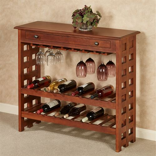 Kitchen Table With Wine Rack: Colborn Mission Style Wine Rack Table