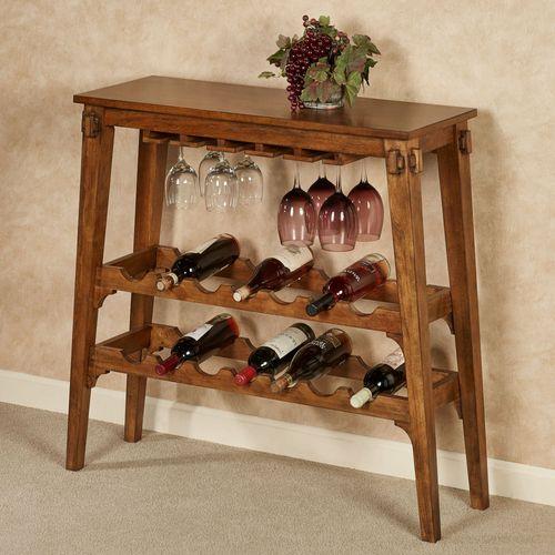 Vernazza Wine Rack Table Vintage Oak