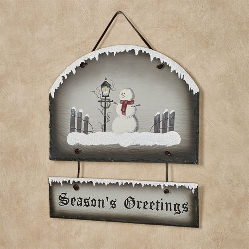 Frosty Greetings Wall Sign Multi Warm