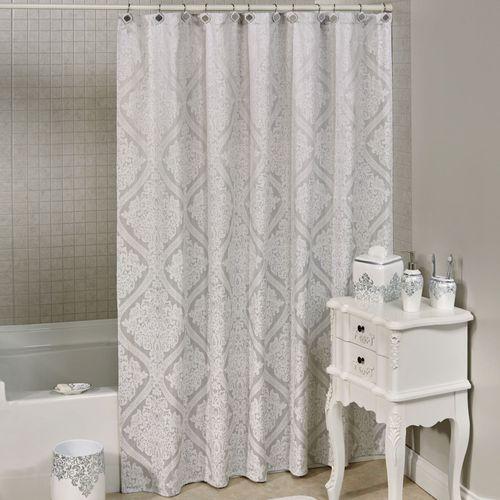 Ettore Shower Curtain Silver 70 X 72