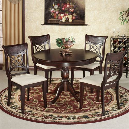 Carwyn Dining Set Rich Mahogany Set of Five