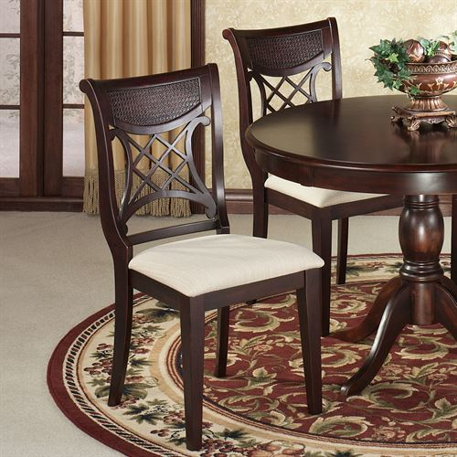 Carwyn Dining Chairs Rich Mahogany Set of Two