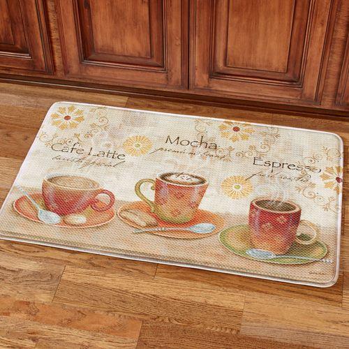 Sunshine Coffee Cushioned Mat Multi Warm 36 x 23