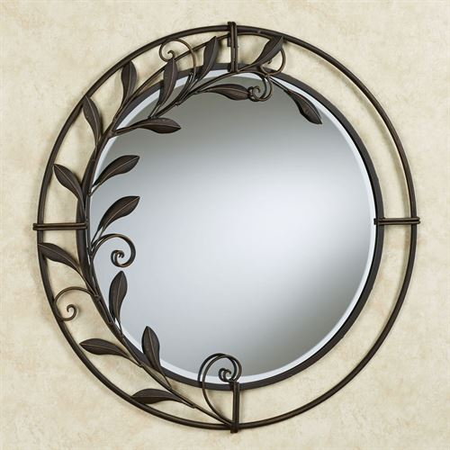 Galeazzo Round Mirror Antique Bronze