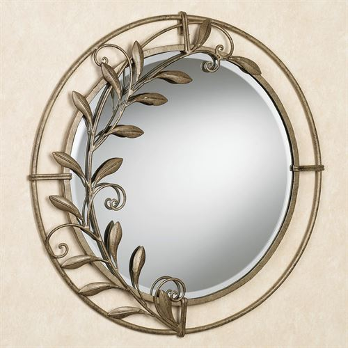 Galeazzo Round Mirror Antique Gold