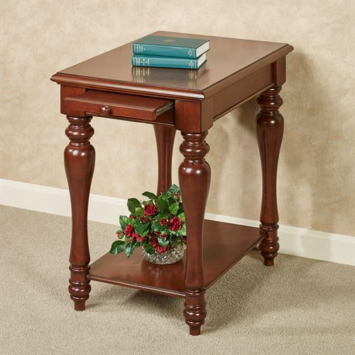 Anna Chairside Table Regal Walnut