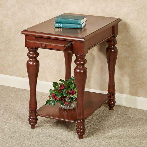 Anna Chairside Table Regal Walnut