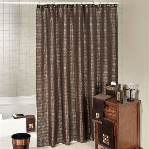 Modena Shower Curtain Espresso 70 x 72