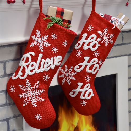 Snowflake Stockings Red 2 Piece Set