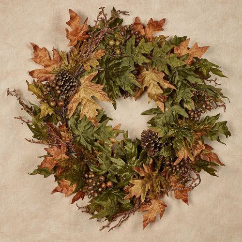 Autumn Berry Leaf Wreath Multi Warm