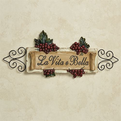 La Vita e Bella Wall Plaque - Vintage